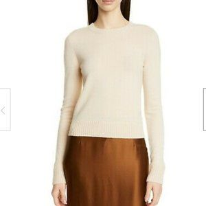 NWT VINCE Runner Rib Crew 100% Cashmere Sweater L